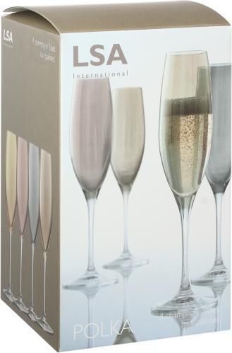 Набор бокалов для шампанского Polka Metallics 225 мл 4 шт. LSA - фото 12
