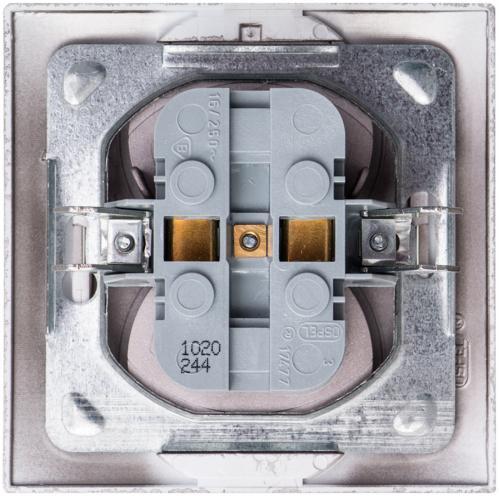 Розетка двойная без заземления Ospel Impresja 16 А 250 В без шторок титан GP-2Y/23 - фото 6