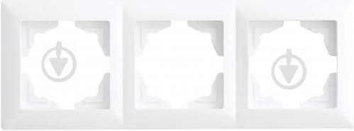 Рамка трехместная Gunsan VISAGE универсальная белый VS 28 11 143 - фото 2