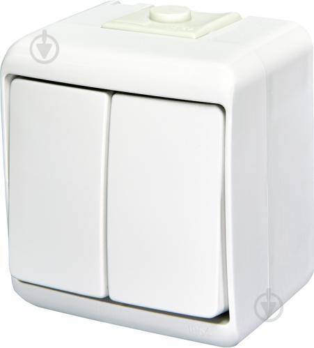 Выключатель двухклавишный ETI Hermetics без подсветки 10 А 250В белый 4668001 - фото 2