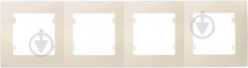 Рамка четырехместная Makel Lilium Natural Kare горизонтальная кремовый 32010704 - фото 2