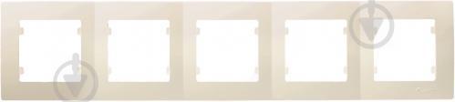 Рамка пятиместная Makel Lilium Natural Kare горизонтальная кремовый 32010705 - фото 2