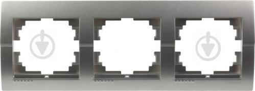 Рамка трехместная Lezard DERIY горизонтальная темно-серый металлик 702-2900-148 - фото 4