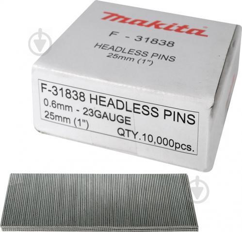 Шпильки для пневмостеплера Makita 25 мм тип 23GA 10000 шт. F-31838 - фото Шпильки для пневмостеплера Makita 25 мм тип 23GA 10000 шт. F-31838 - фото 2
