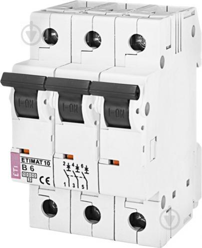 Автоматический выключатель ETI 10 3p B 6А (10 kA) 2125712 - фото 2