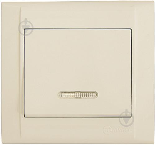 Выключатель одноклавишный Makel Defne с подсветкой 10 А 250В кремовый 42010021 - фото 2