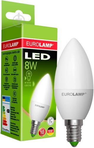 Лампа светодиодная Eurolamp LED-CL-08143 (E) 8 Вт C37 матовая E14 175-250 В 3000 К - фото Лампа светодиодная Eurolamp LED-CL-08143 (E) 8 Вт C37 матовая E14 175-250 В 3000 К - фото 5