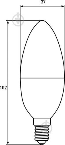 Лампа светодиодная Eurolamp LED-CL-08143 (E) 8 Вт C37 матовая E14 175-250 В 3000 К - фото Лампа светодиодная Eurolamp LED-CL-08143 (E) 8 Вт C37 матовая E14 175-250 В 3000 К - фото 6