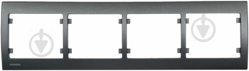 Рамка четырехместная Siemens IRIS горизонтальная сталь нептун G-S18004-AN - фото 2
