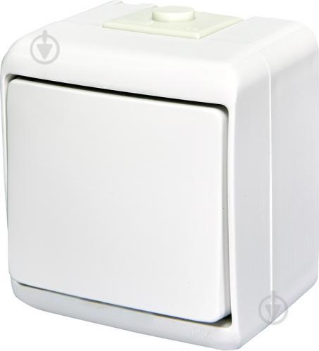Выключатель одноклавишный ETI Hermetics с подсветкой 10 А 250В белый 4668007 - фото 2