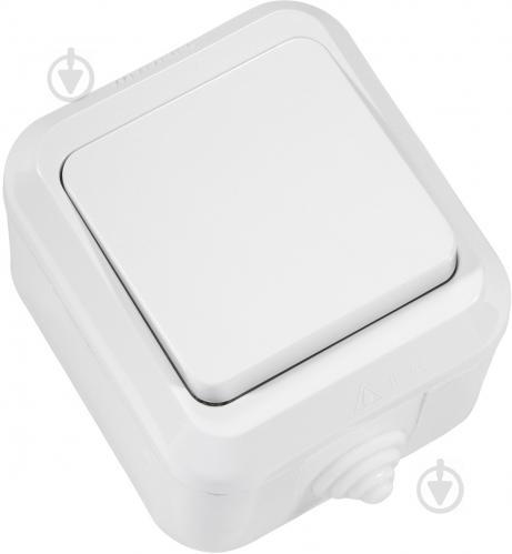 Выключатель перекрестный одноклавишный Makel IP44 без подсветки 10 А 250В IP44 белый 18305 - фото 2