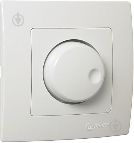 Светорегулятор поворотный Makel Lilium Natural Kare 1000Вт IP20 белый 32001093 - фото 2