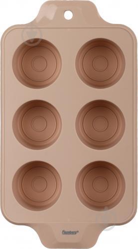 Форма для кексов Beige Rose 6 шт. 4,7x33x18,5 см Flamberg - фото 5