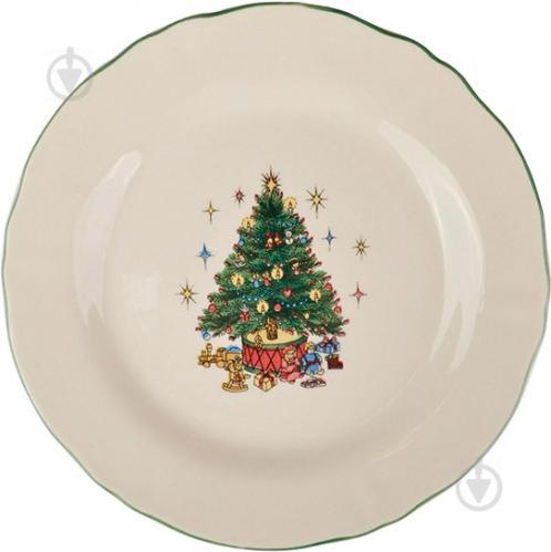 Тарелка десертная Рождественская елка 21 см 910-131 Claytan Ceramics - фото 2