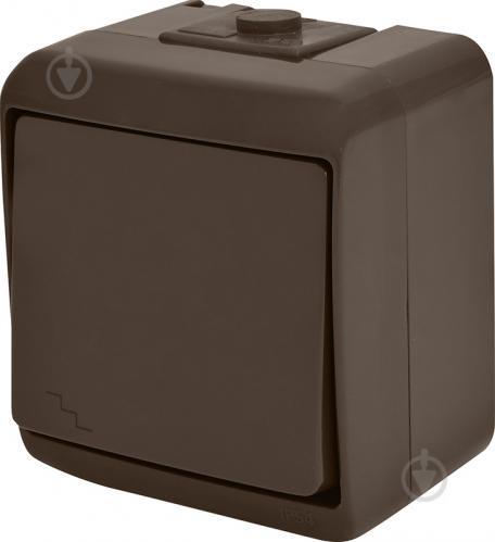 Выключатель проходной одноклавишный ETI Hermetics без подсветки 10 А 250В коричневый 4668042 - фото 2