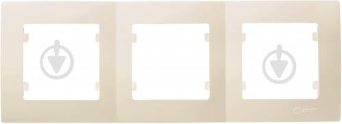 Рамка трехместная Makel Lilium Natural Kare горизонтальная кремовый 32010703 - фото 2