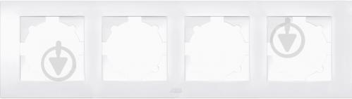 Рамка четырехместная ABB Cosmo универсальная белый 612-010200-228 - фото 2