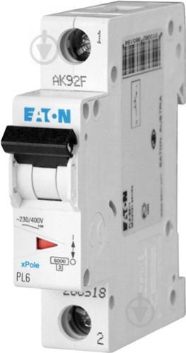 Автоматический выключатель Eaton PL4-C16/1 1Р 16А тип С 4,5 кА 293124 - фото 2