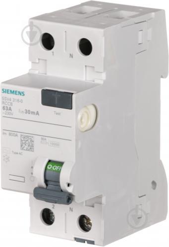 Дифференциальное реле Siemens АС 2p 63А 30 мА AC 230V 5SV4316-0 - фото Дифференциальное реле Siemens АС 2p 63А 30 мА AC 230V 5SV4316-0 - фото 7