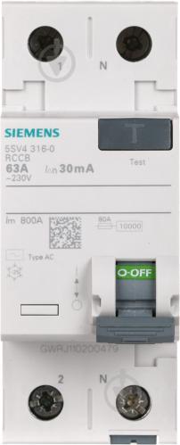 Дифференциальное реле Siemens АС 2p 63А 30 мА AC 230V 5SV4316-0 - фото Дифференциальное реле Siemens АС 2p 63А 30 мА AC 230V 5SV4316-0 - фото 6