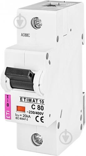 Автоматический выключатель ETI 10 1p C 80А (20 kA) 2131731 - фото 2