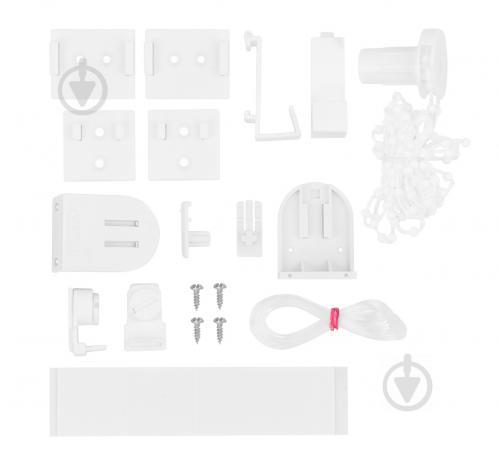 Ролета мини Delfa Металлик Принт 43x170 см кремовая - фото 10