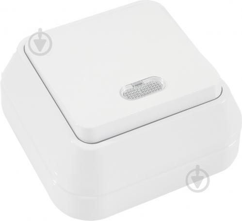 Выключатель одноклавишный Makel IP44 с подсветкой 10 А 250В белый 45121 - фото 2
