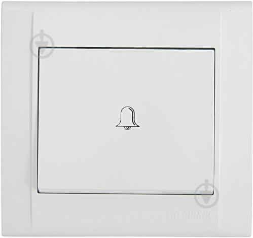 Кнопка звонка Makel Defne 250В белый 42001050 - фото 2