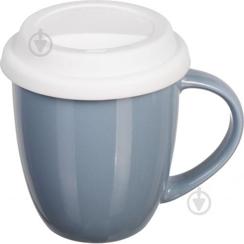Чашка с крышкой Snug Gray 370 мл Fiora - фото 5