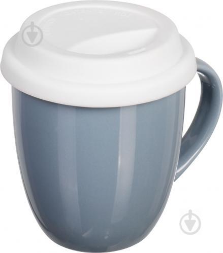 Чашка с крышкой Snug Gray 370 мл Fiora - фото 6