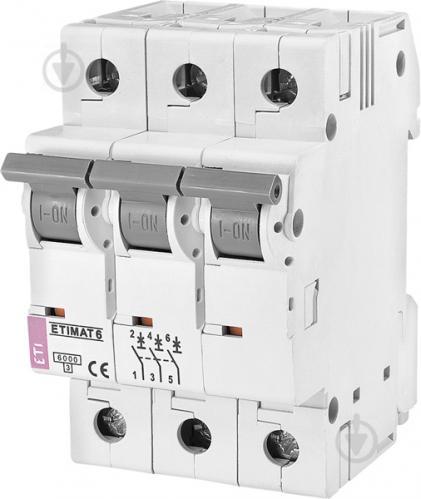 Автоматический выключатель ETI 6 3p B 50А (6 kA) 2115521 - фото 2