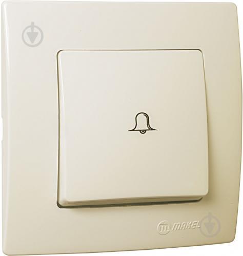 Кнопка звонка Makel Lillium Natural Kare без подсветки 10 А 250В кремовый 32010050 - фото 2