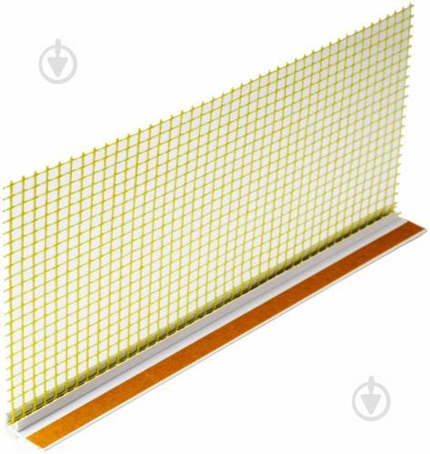 Профиль PVC оконный примыкающий с армирующей сеткой 6мм x2,4м - фото 5