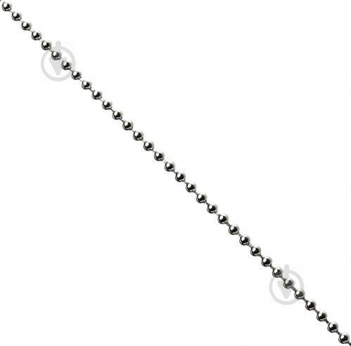 Цепь декоративная шариковая 3,2 мм серебро - фото Цепь декоративная шариковая 3,2 мм серебро - фото 2
