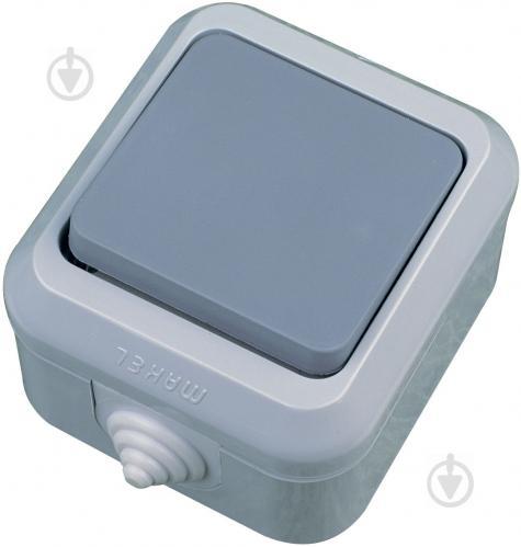 Выключатель проходной одноклавишный Makel IP44 без подсветки 10 А 250В серый 18103 - фото 2