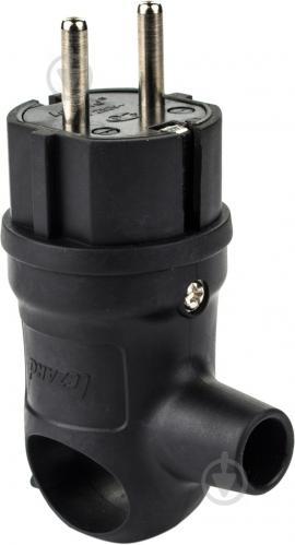 Вилка электрическая с ручкой Lezard 106-0400-0109 16 А 2Р+РЕ с заземлением 250В 16А IP20 черный - фото 3