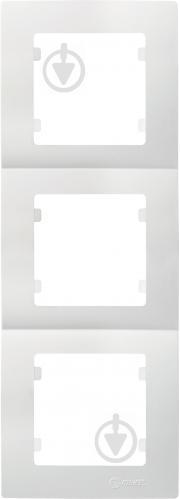 Рамка трехместная Makel Lilium Natural Kare вертикальная белый 32001708 - фото 2