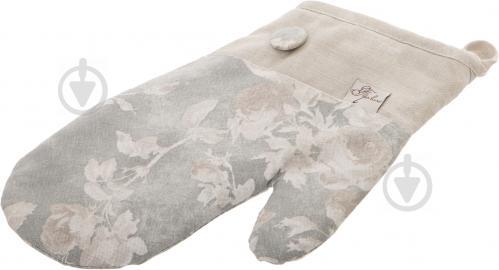 Прихватка-варежка Allure Розы 15x27 см серый Прованс - фото 5