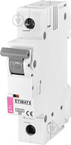 Автоматический выключатель ETI 6 1p C 20A (6kA) 2141517 - фото 2