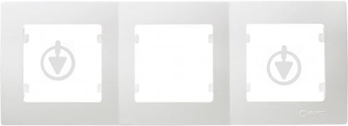 Рамка трехместная Makel Lilium Natural Kare горизонтальная белый 32001703 - фото 2