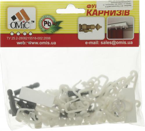 Комплект фурнитуры ОМиС к потолочному карнизу ОМ1 наборной 300 см белый - фото 4