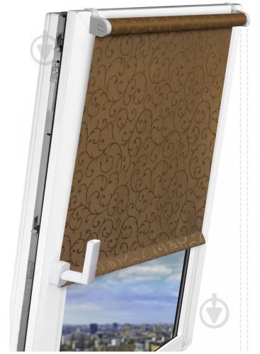 Ролета Delfa Жаккард Прима 156x170 см какао - фото 8