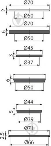 Комплект запасных прокладок Alcaplast P067 - фото 6