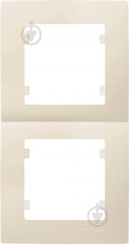 Рамка двухместная Makel Lilium Natural Kare вертикальная кремовый 32010707 - фото 2