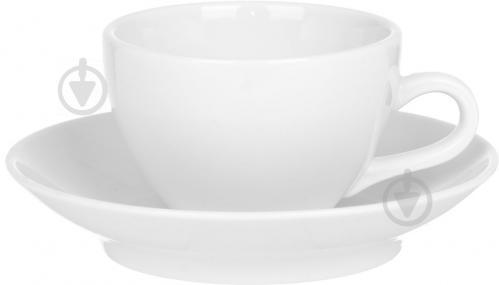 Чашка с блюдцем Horeca Columbia 200 мл (F2119+F1982) Alt Porcelain - фото 5