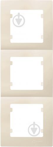 Рамка трехместная Makel Lilium Natural Kare вертикальная кремовый 32010708 - фото 2