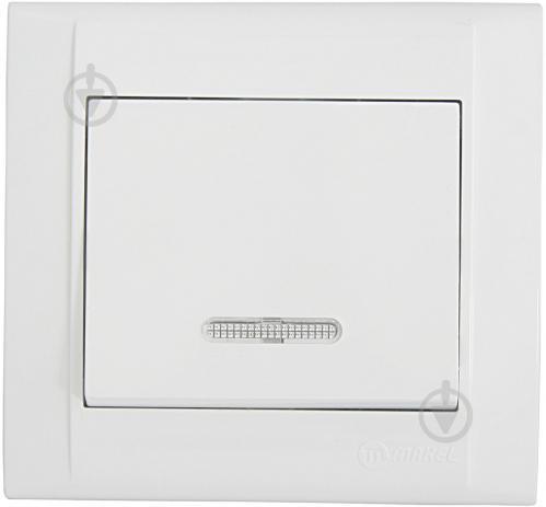 Выключатель одноклавишный Makel Defne с подсветкой 10 А 250В белый 42001021 - фото 2