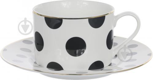 Чашка с блюдцем Горох 220 мл Lefard - фото 4