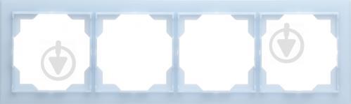 Рамка четырехместная ABB NEO универсальная голубой 3901M-A00140 41 - фото 2