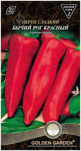 Семена Golden Garden перец сладкий Бычий рог красный 0,3г - фото 2